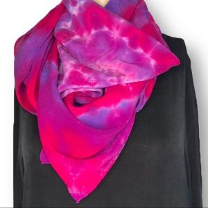 Hand dyed XL galaxy swirl silk scarf